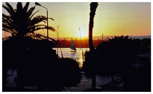Sonnenuntergang Westbank